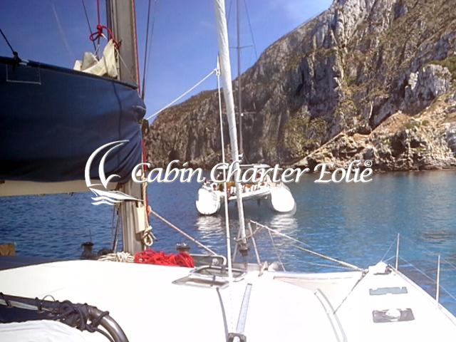 Isole Egadi - Marettimo - Cabin Charter Eolie - Catamarano - Imbarco Cabina 640