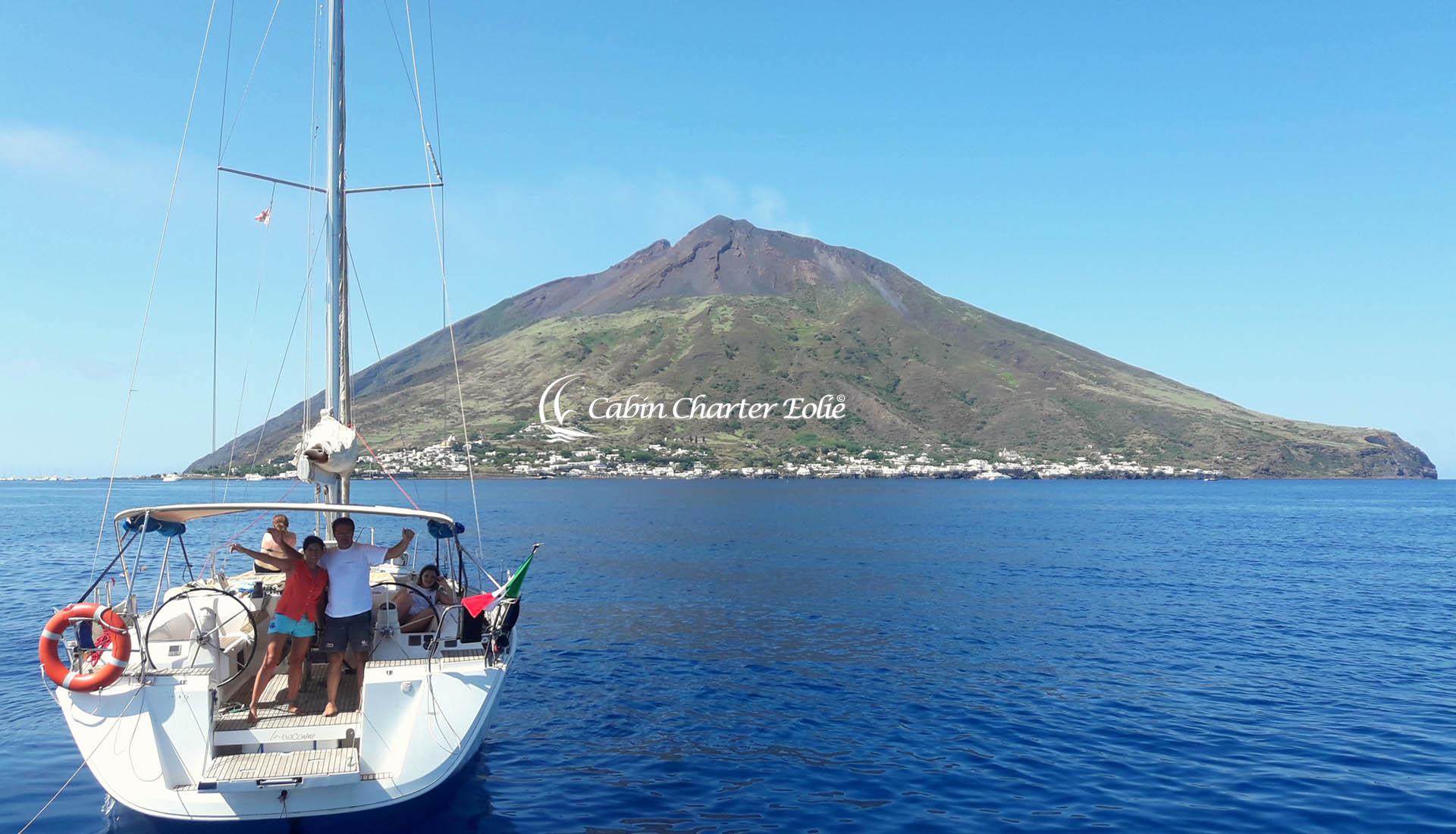 Stromboli - Amici - Single - Barca a Vela - Cabin Charter Eolie