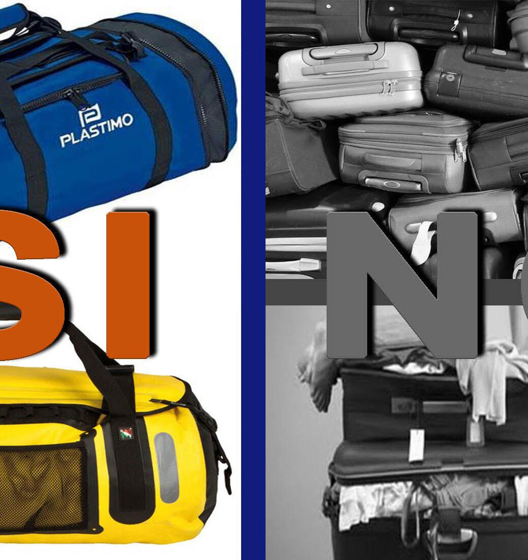la valigia per una vacanza in barca a vela alle isole eolie